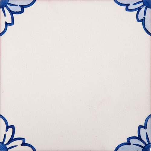 249a Gelosia Blanc, Blue Glazed Ceramic Tiles 5 1/2×5 1/2