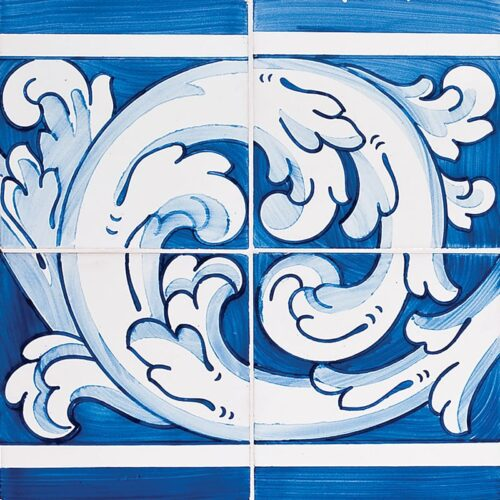 343 Double Border Glazed Ceramic Tiles 11×22
