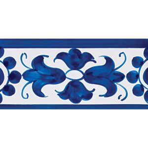 408 Border Blue Glazed Ceramic Borders 2 3/4x5 1/2