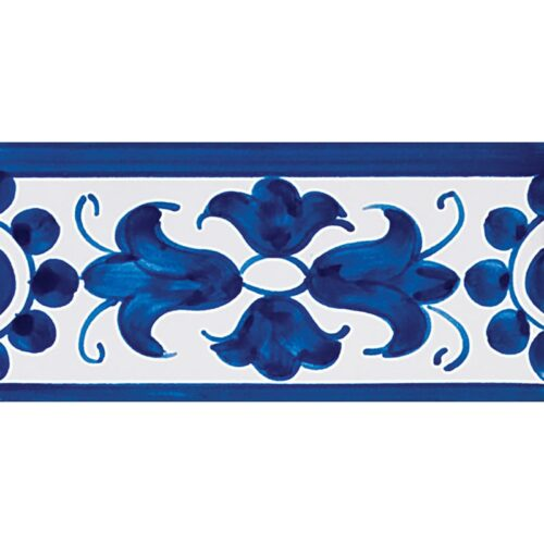 408 Border Blue Glazed Ceramic Borders 2 3/4×5 1/2