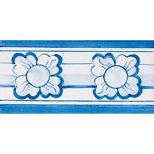 412 Border Blue Glazed Ceramic Borders 2 3/4×5 1/2