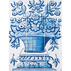Cesta Panel Blue Glazed Ceramic Tiles 22x16 1/2