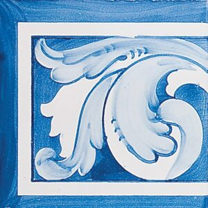 Acanthus Brd Blue Lt Glazed Ceramic Tiles 5 1/2x5 1/2