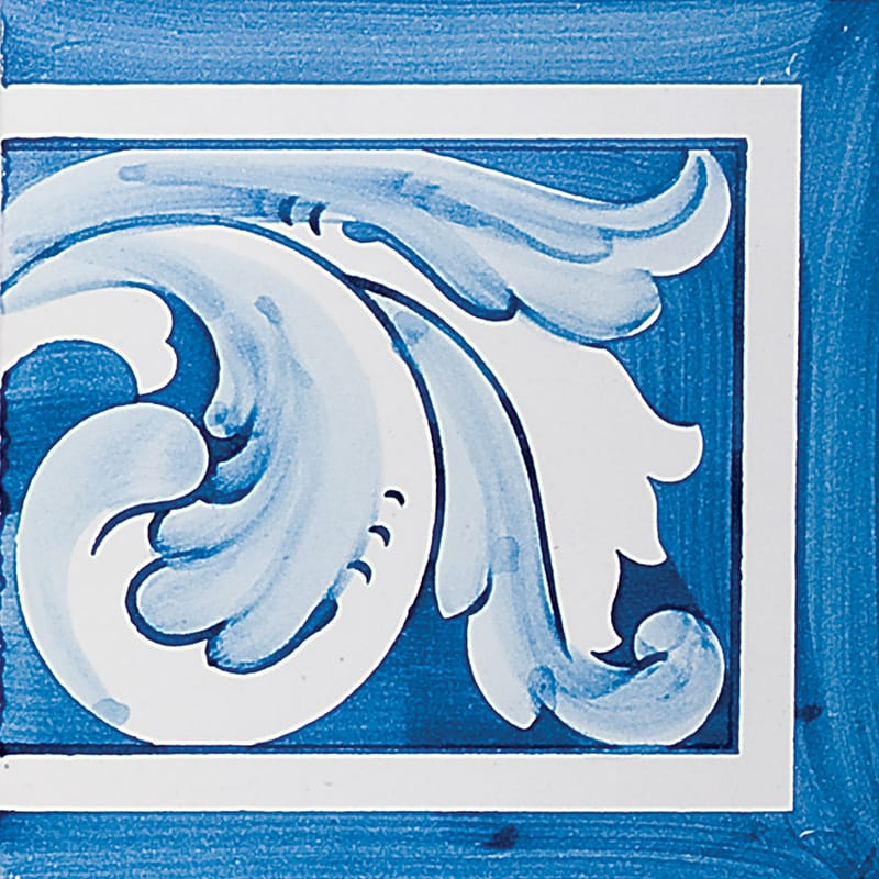 Acanthus Brd Blue Rt Glazed 5 1/2x5 1/2 Ceramic Tiles 5 1/2x5 1/2
