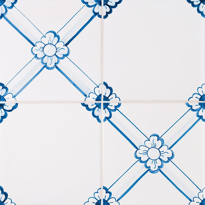 Miramar Blue Glazed 5 1/2x5 1/2 Ceramic Tiles 5 1/2x5 1/2