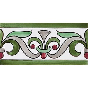 426 Glazed Seixas Or Funchal Moss B Ceramic Borders 2 3/4x5 1/2