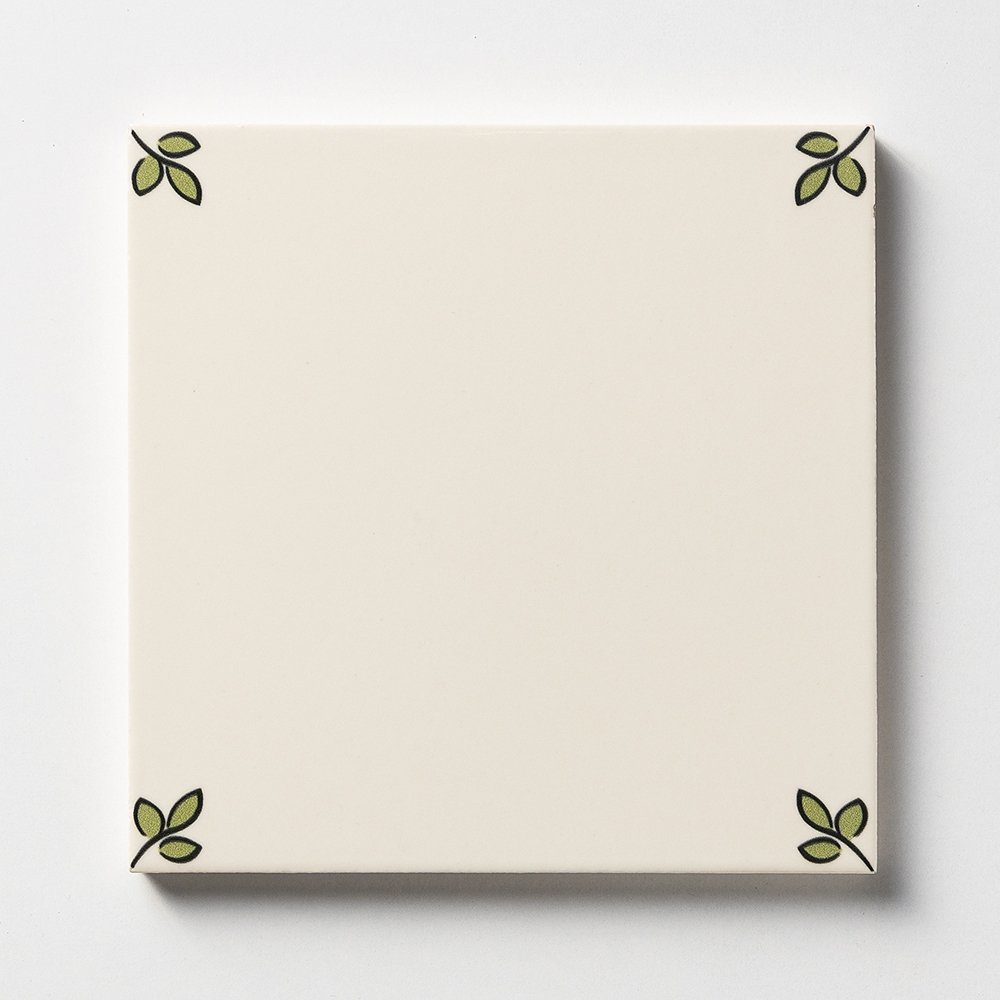 192a Garden Blanc Glazed Ceramic Tiles 6x6