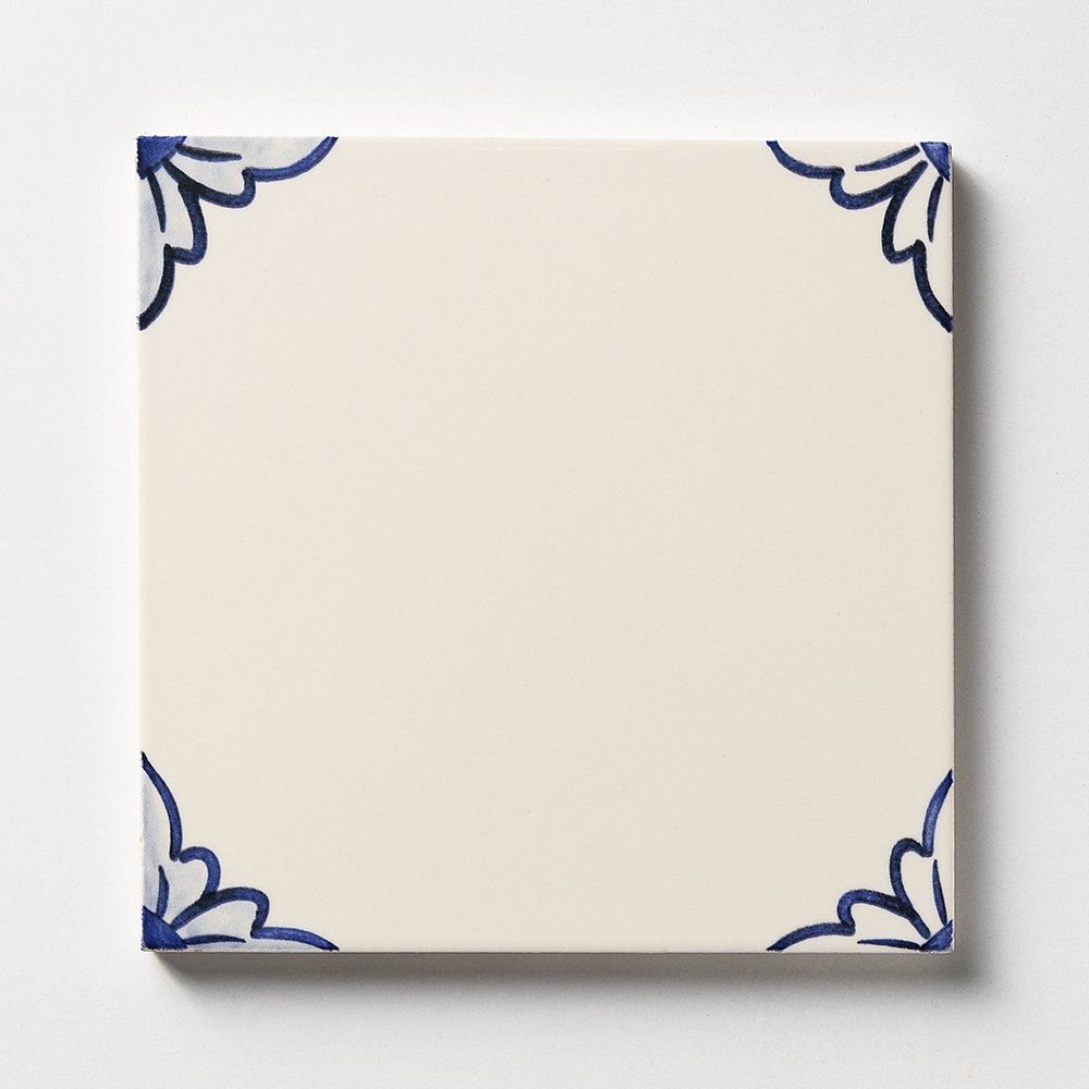 249a2 Gelosia Blanc Blue Glazed Ceramic Tiles 6x6