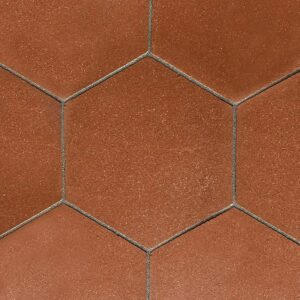 Hexagon Satin Terracotta Tiles 10 Inch