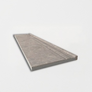 Bishop Grey Polished Marble Baseboards 6x24