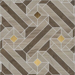 Mamzel Medium Polished Marble Mosaics 10 3/4x10 3/4