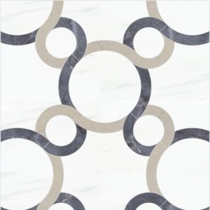 Marquee Grande Polished Marble Mosaics 10 1/8x10 1/8