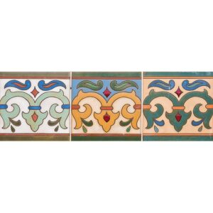 102 Glazed Crest Ceramic Tiles 6x6