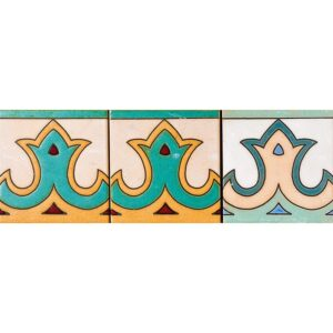 105 Glazed Crown Ceramic Tiles 6x6