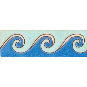 400 Glazed Peggys Wave Ceramic Borders 2x6