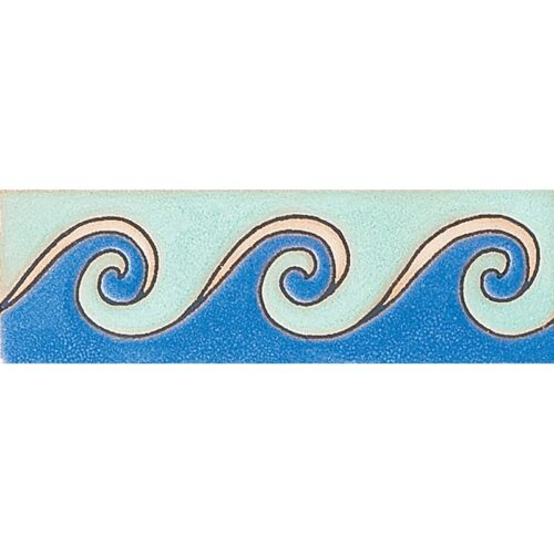 400 Glazed Peggys Wave Ceramic Borders 2×6