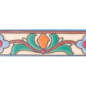 286 Glazed Topanga Flower Ceramic Borders 2x6