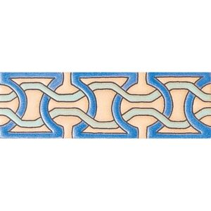 239 Glazed Moroccan Chain Ceramic Borders 2x6
