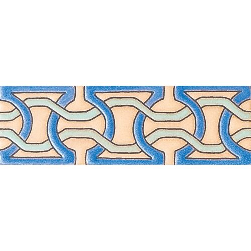 239 Glazed Moroccan Chain Ceramic Borders 2×6