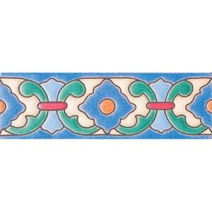 486 Glazed Royal Flower Ceramic Borders 2x6