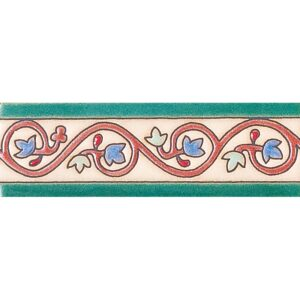 244 Glazed Curley Ivy Ceramic Borders 2x6