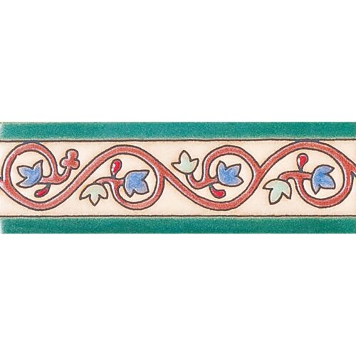 244 Glazed Curley Ivy Ceramic Borders 2×6