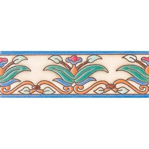 274 Glazed Dragon Leaf Ceramic Borders 2x6