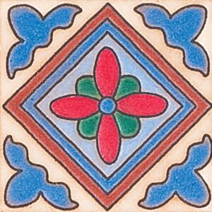 464 Glazed Diamond Flower Ceramic Tiles 3x3