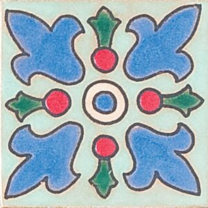 130 Glazed Crest Flower Ceramic Tiles 3x3