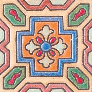 302 Glazed Floral Cross Ceramic Tiles 3x3