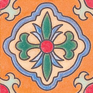 121 Glazed Spanish Flower Ceramic Tiles 3x3