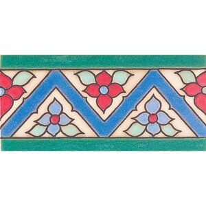 183 A Glazed Ceramic Borders 3x6