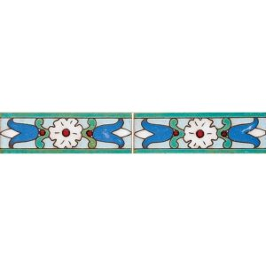 116 B Glazed Tulip Ceramic Borders 2x6