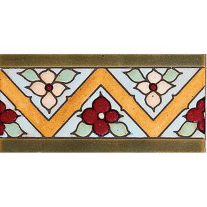 136 A Glazed Flower Ceramic Borders 3x6