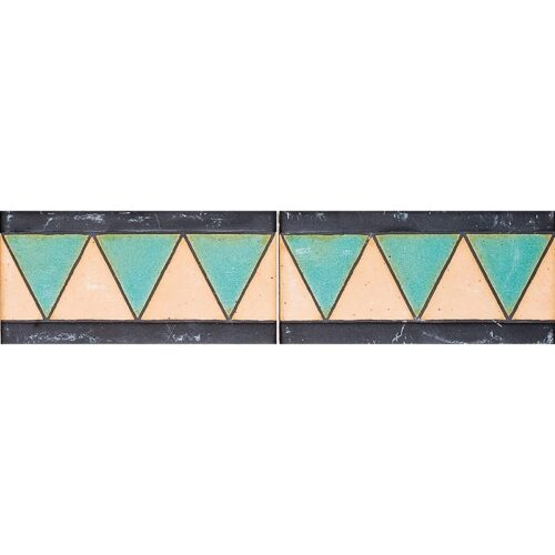 113 A Glazed Triangle Ceramic Borders 3×6