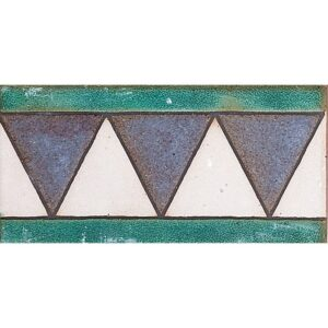 113 B Glazed Triangle Ceramic Borders 3x6