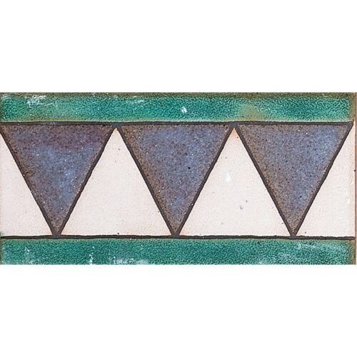113 B Glazed Triangle Ceramic Borders 3×6