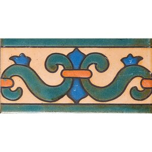 1594 Glazed Color Way-b Ceramic Borders 3x6
