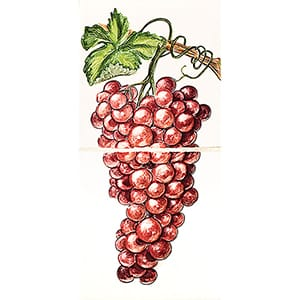 Red Grapes Glossy Ceramic Panels 4x8