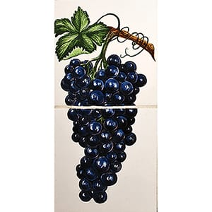 Blue Grapes Glossy Ceramic Panels 4x8