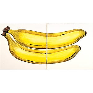 Bananas Glossy Ceramic Panels 4x8