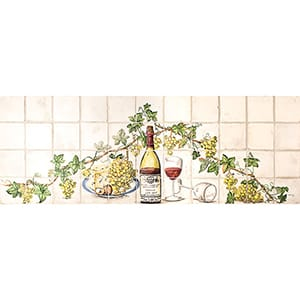 Wine Ivory Matte Ceramic Panels 16x44