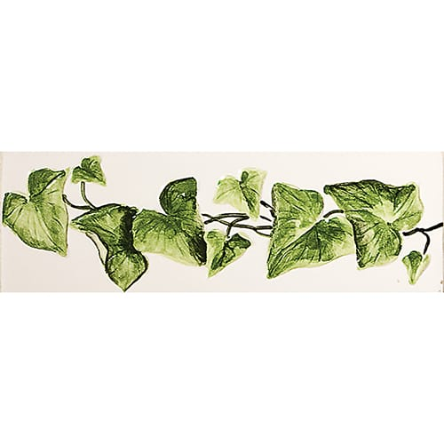 Relief Ivy Glossy Hand Molded Ceramic Borders 2×6