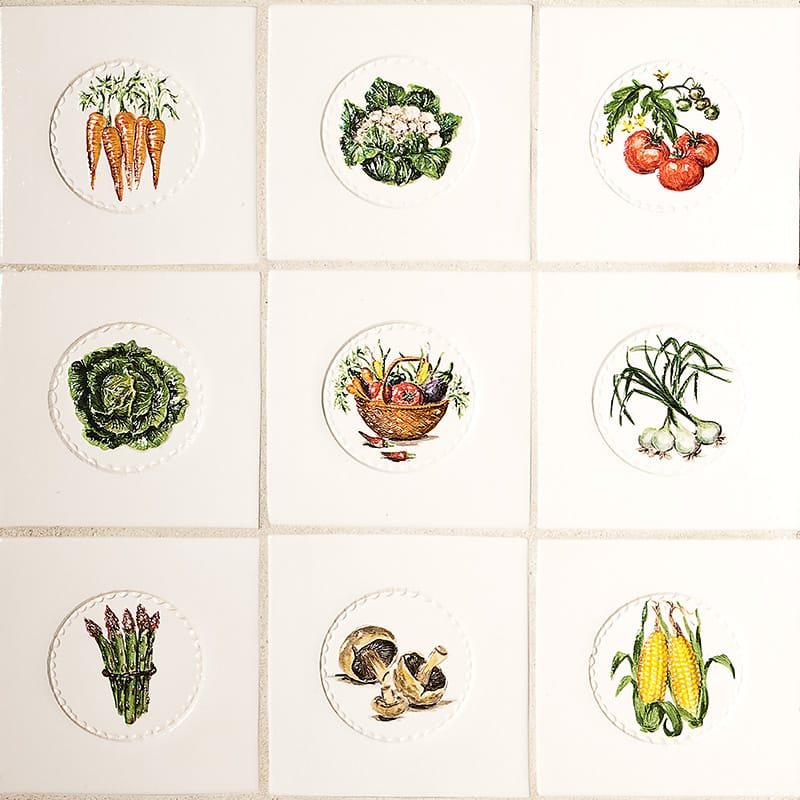 Kitchen Tiles Fruits Vegetables: Fruits And Vegetables Tiles