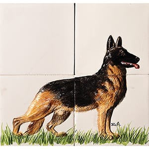 Dog Glossy Ceramic Panels 8x8