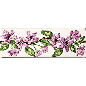 Violet Flower Glossy Morning Glory Ceramic Borders 2x6