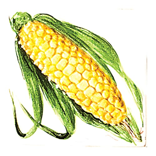 Vegetable Corn Glossy Ceramic Tiles 4×4