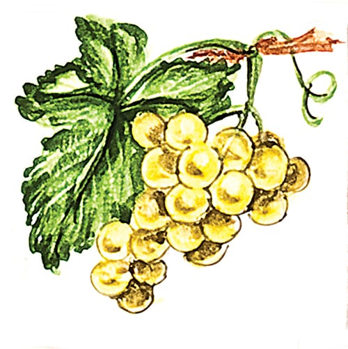 Fruit Yellow Grapes Glossy Ceramic Tiles 4×4