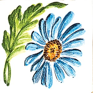 Flower Daisy Glossy Ceramic Tiles 4x4