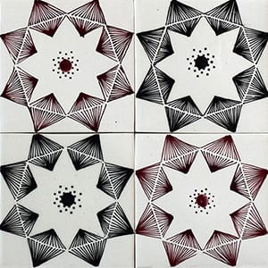 Diamonds Glossy Ceramic Tiles 4x4